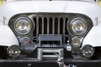 bumper mounted electric winch