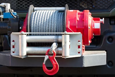electric bumper winch